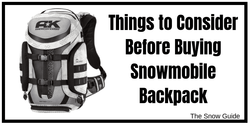 Backpack for snowmobiling in 2019