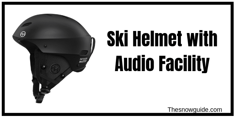 Ski and Snowboard helmet with speakers